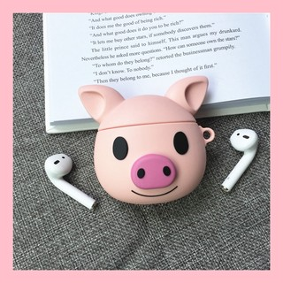 AirPods pro protective sleeve cute pig face 2 for Mac wireless Bluetooth headset silicone soft shell