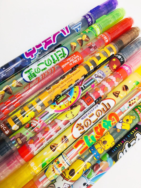 Japanese SAKAMOTO Meiji snack limit fragrance double head water pen snack taste