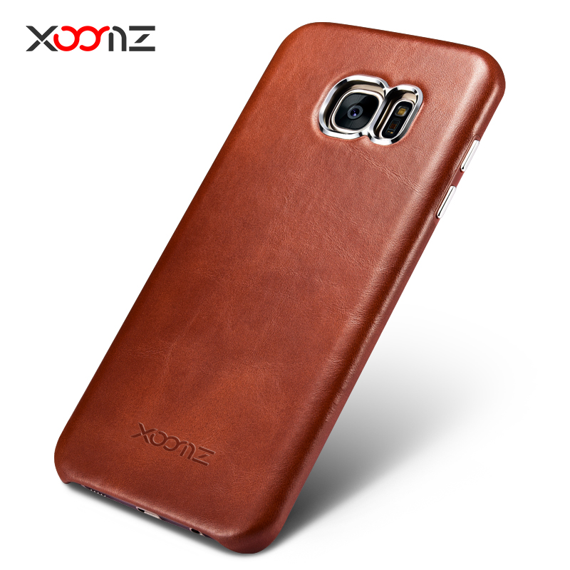 iCarer Transformers Vintage Handmade Genuine Cowhide Leather Back Cover Case for Samsung Galaxy S7 edge & Galaxy S7