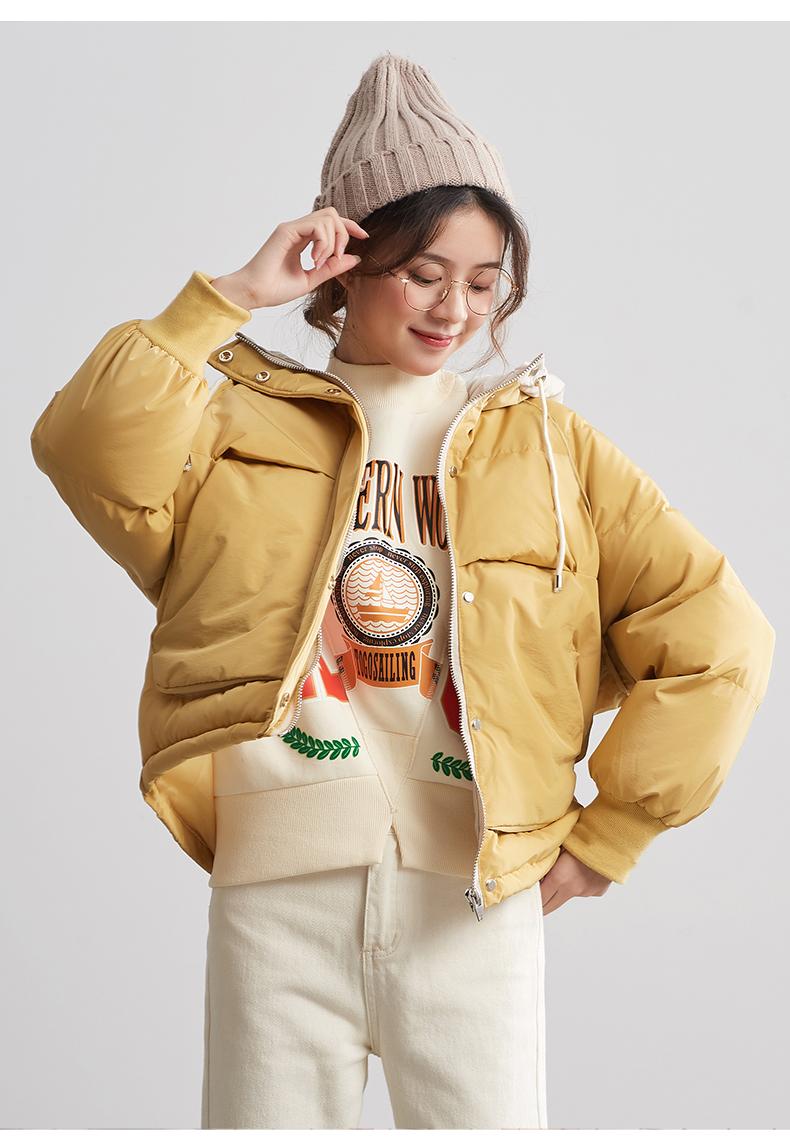 唐狮羽绒服女2019新款爆款羽绒服女面包服短款冬季羽绒服女小个子商品详情图