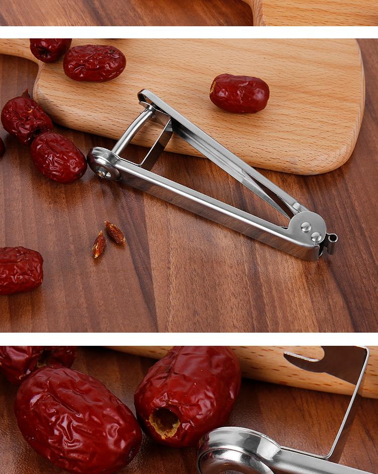红枣去核器不锈钢家用去枣核神器多功能厨房工具果胡壳专用去籽器详细照片
