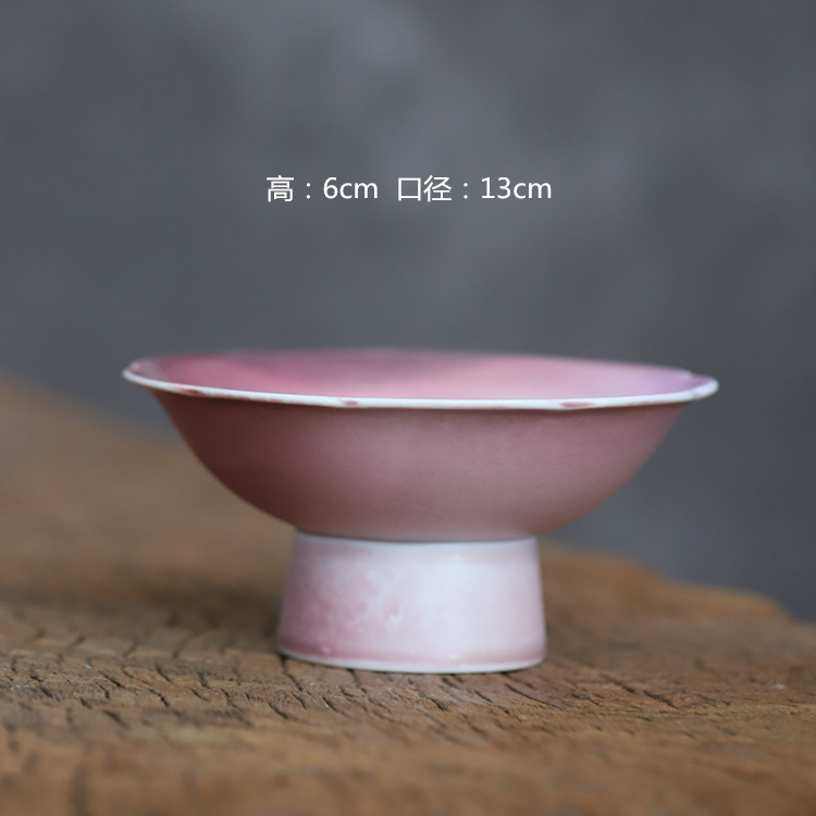 Poly real scene of Chinese high creek red glaze dry expressions using tea tray compote flower tea tray tea pot adopt manual compote