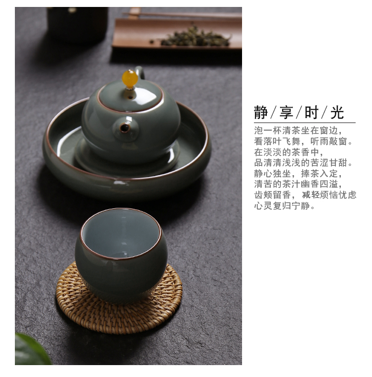 Poly real scene kung fu tea cup water elder brother up with celadon ceramics slicing fail the manual master cup egg cup