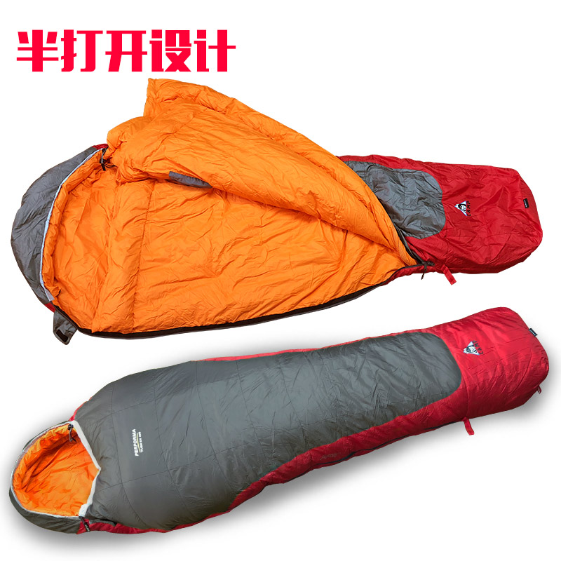 Camp sleeping bag down adult autumn and winter widened thick large outdoor  camping ultra light warm 01a97d925