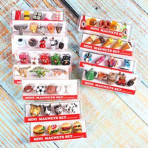 冰箱贴磁性贴套装动物日本寿司恐龙足球篮球冰淇淋咖啡创意小礼物