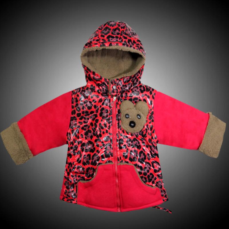 男童羊羔绒小童卡通外套上衣洋气豹纹女童加绒加厚a男童宝宝3岁2潮