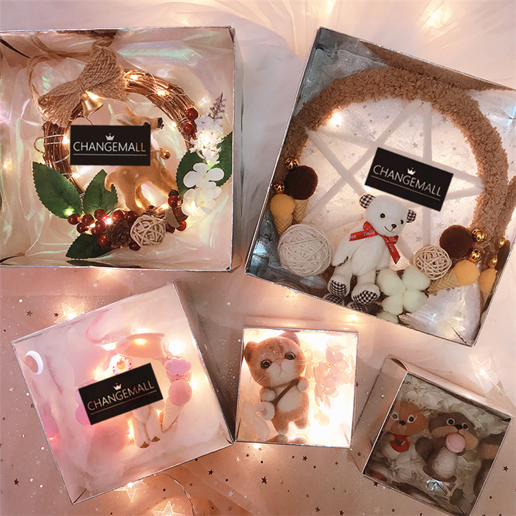 Usd 5 43 Circle Wood Diy Handmade Gift Gift Transparent Gift Box