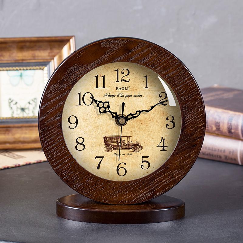 Поляроид гостиная американский простой дерево часы сиденье колокол немой современный спальня тайвань колокол континентальный творческий сидеть колокол качели колокол