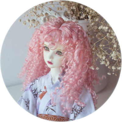 taobao agent 【QQ WIG】Dolly Planet BJD 4 points/3 points wig light golden retro thick curly hair