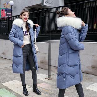 Длина бедро хлопок женщина 2019 новый зимний осенний облегающий, южнокорейская версия хлопок одежда большая мода карман холодный одежда