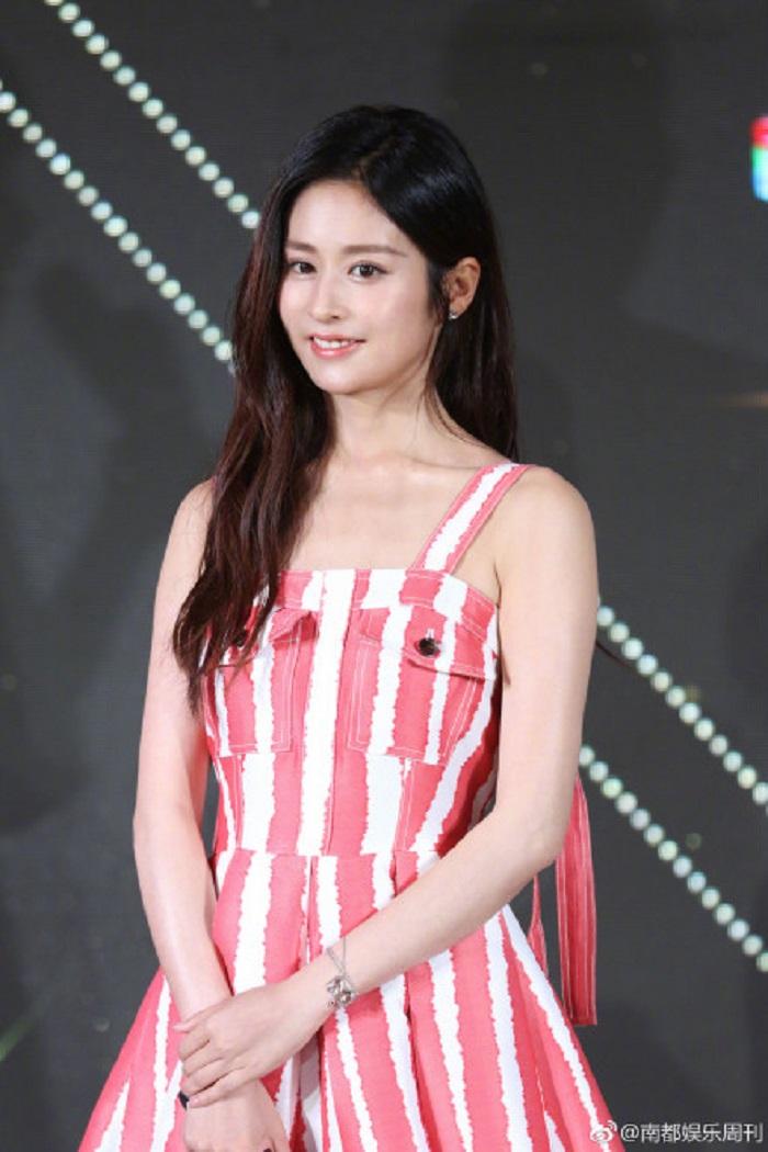 春季新款一粒红尘颖儿明星同款韩版名媛红白条纹印花吊带连衣裙