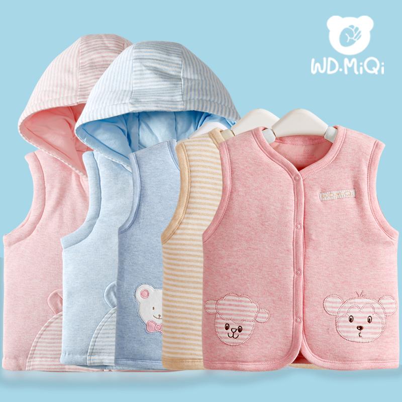 春秋冬季男童加厚儿童女童小童婴儿马甲背心新生儿0-3个月1岁宝宝