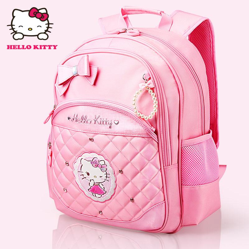 凯蒂猫hellokitty双肩女小学生2-6女童可爱书包女生护脊背包年级