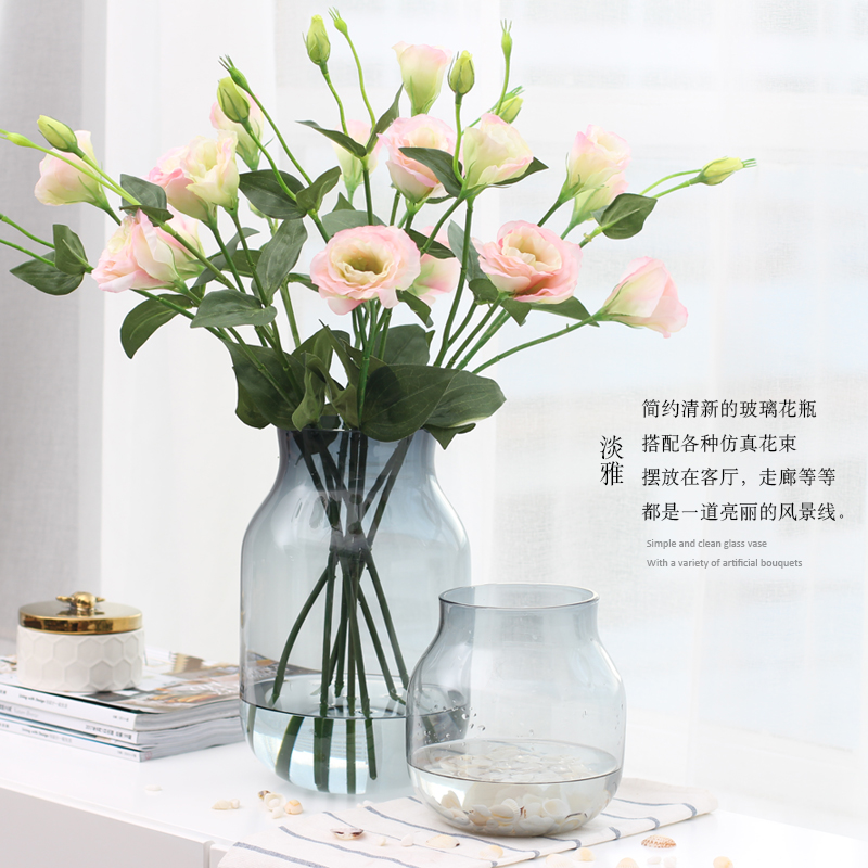 Usd 2205 Mo Song Modern European Wide Mouth Transparent Glass Vase