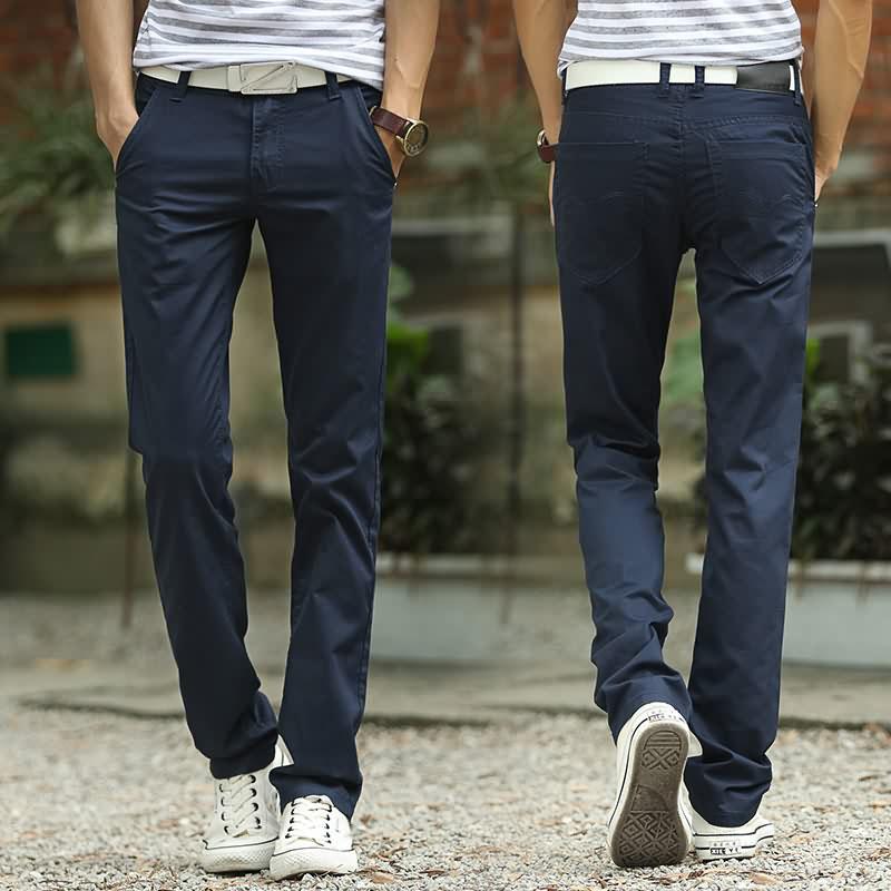 Quần âu nam thẳng quần nam thanh niên nam quần dài 2018 mới dụng cụ mặc kháng giá rẻ kích thước lớn phần mỏng KU