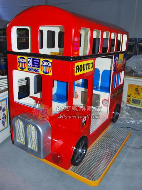 史可威伦敦巴士摇摇车电动豪华瑶瑶车儿童摇摆机投币出口摇摇机