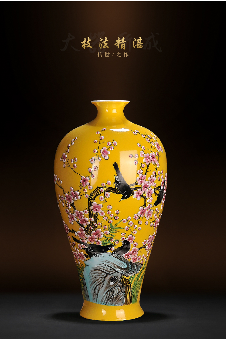 Jingdezhen porcelain ceramic vases, flower receptacle furnishing articles porch TV ark, sitting room of Chinese style household decoration process