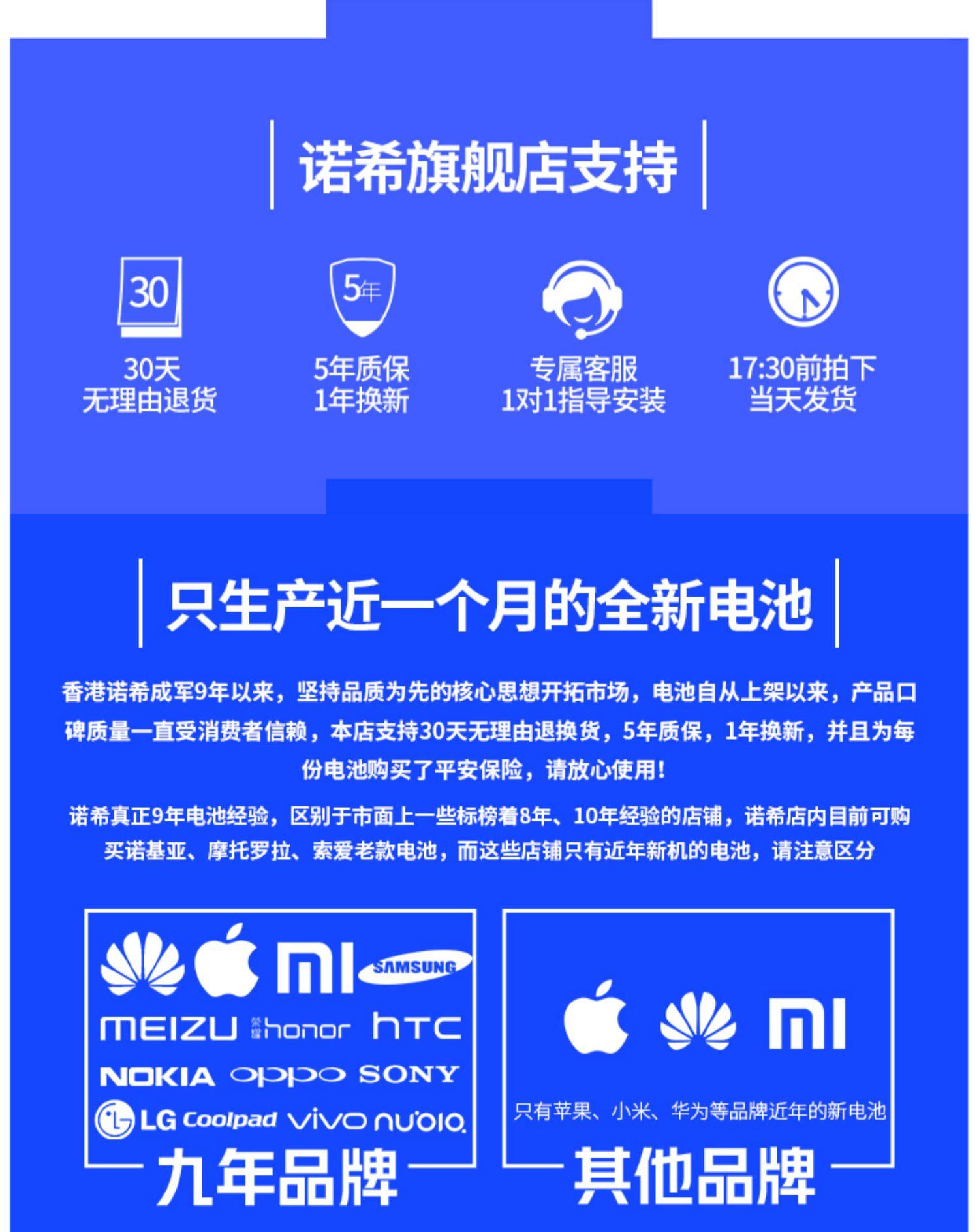 iphone6电池6s苹果6 plus全新iPhone7大容量6p诺希旗舰店官网正品换六七8手机电板6sp SE 4s 5 5s 5c 8p X商品详情图