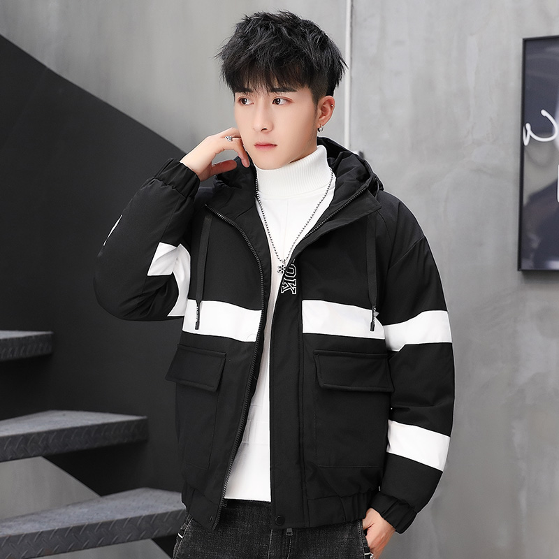 New cotton clothing 2019 fashion trend ins net red men's casual coat handsome Korean wind cotton clothing mule man