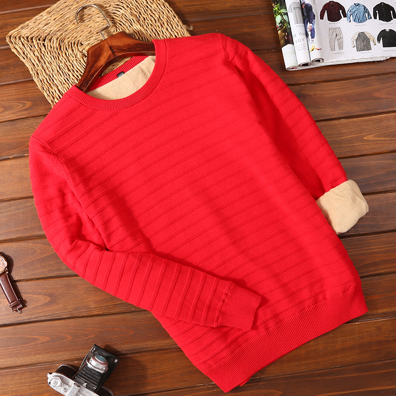 Plus Velvet 2502 Red (round Neck)