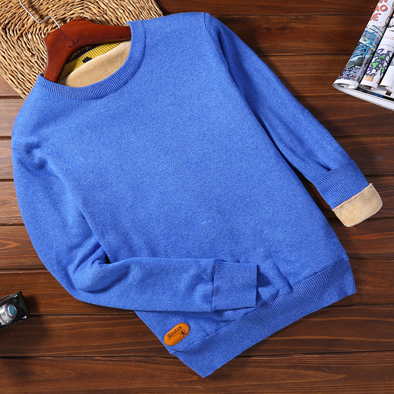 Plus Velvet 2078 Color Blue (round Neck)