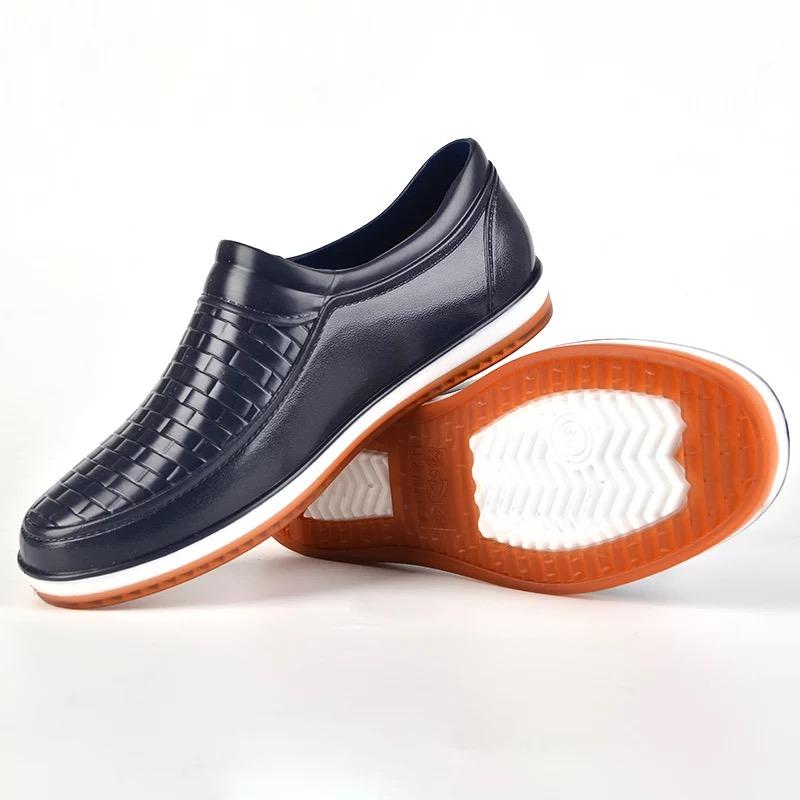 夏季低帮雨鞋男时尚短筒雨靴防滑防水鞋厨房厨师轻便工作浅口胶鞋