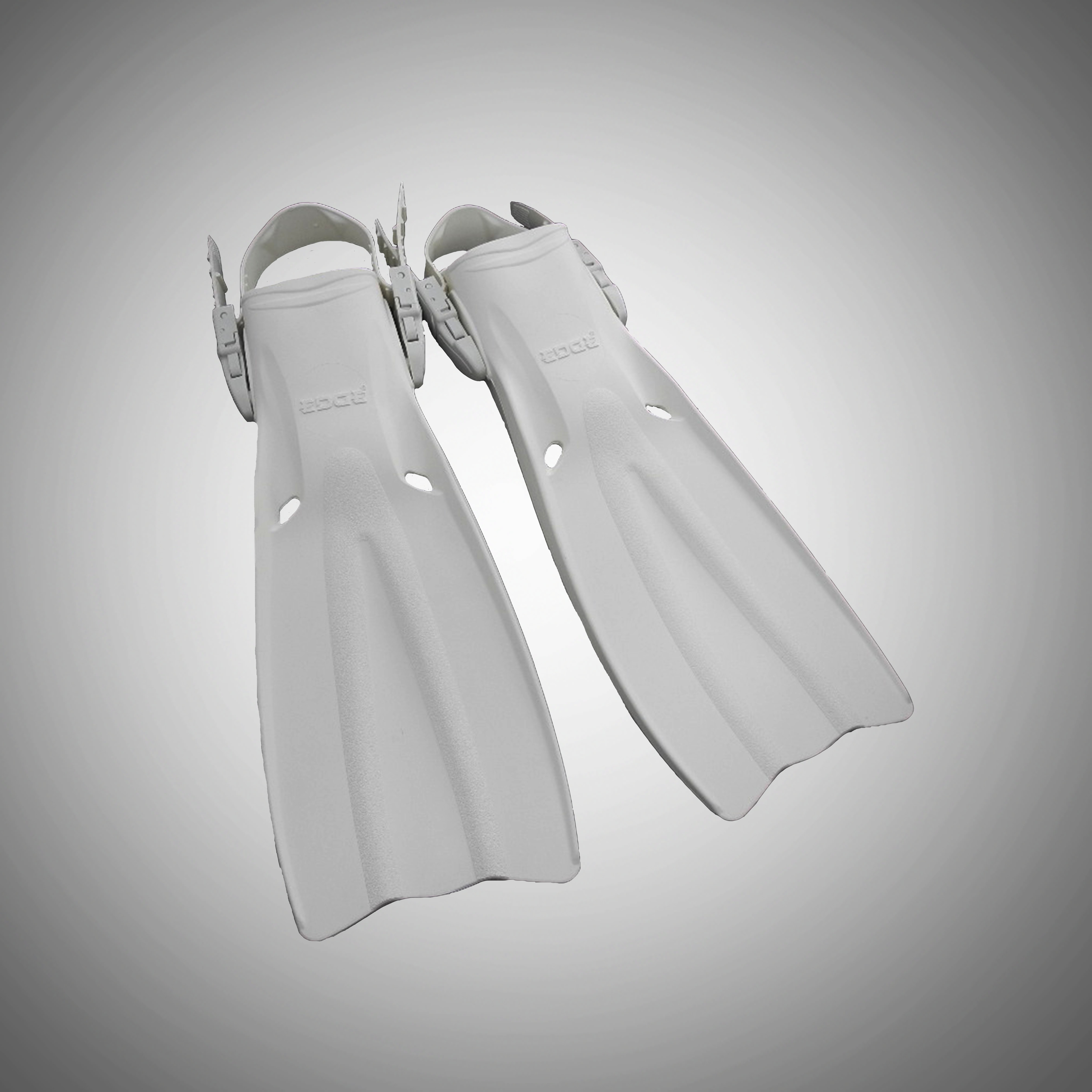 USD 107.50] American EDGE diving all white flippers quick release ...