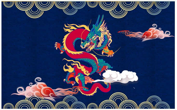 现代沙发壁画古中国风PSD素材