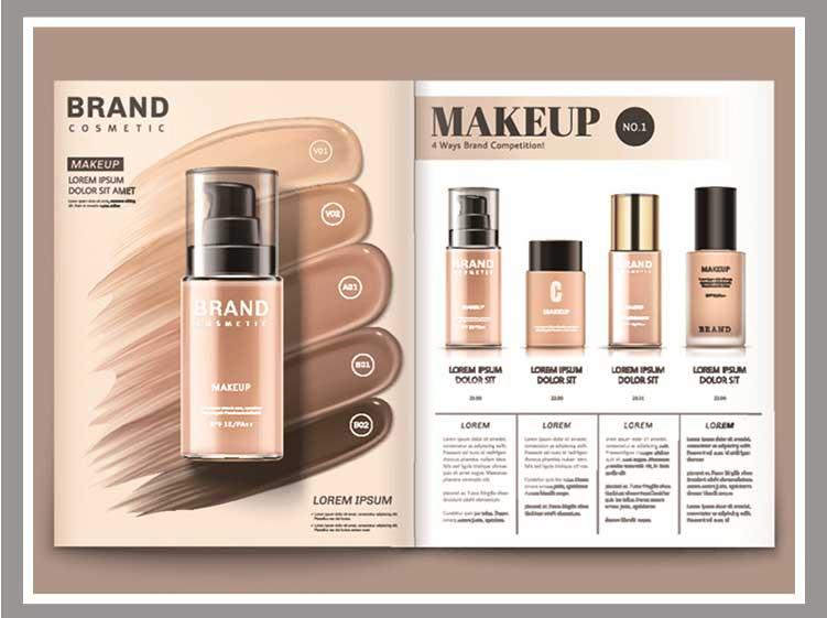 护肤品化妆品美容画册封面AI素材