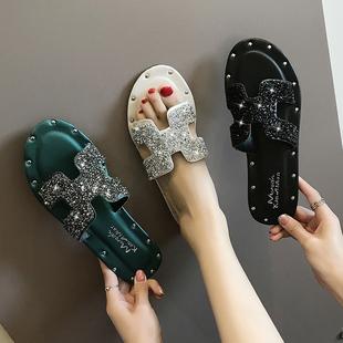 【大道行旗舰店】夏季新款时尚水钻凉鞋