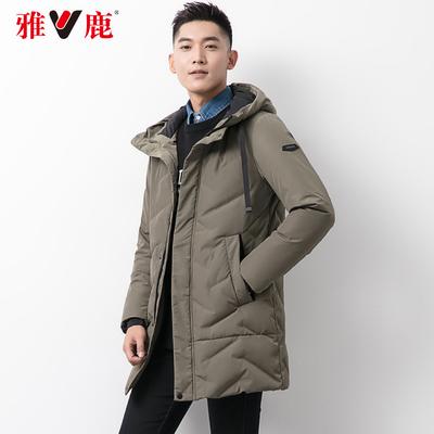 雅鹿羽绒服男冬季韩版中长款