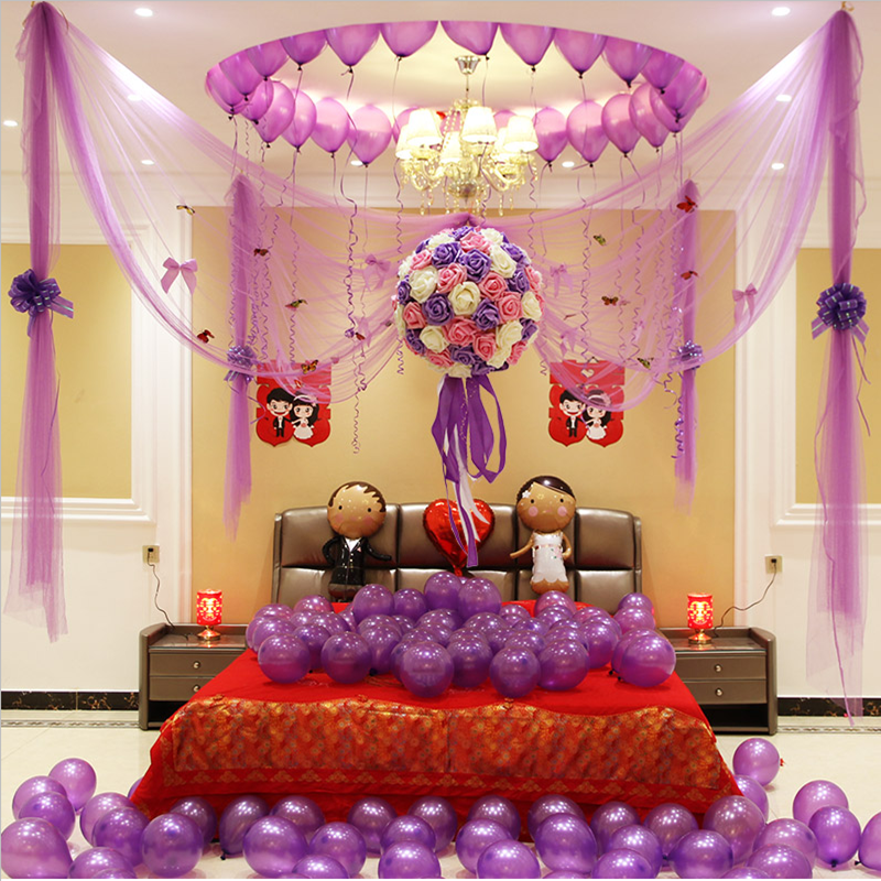 Wedding Supplies Room Decoration Flower Ball Layout Pull New Bedroom Curtain Yarn Balloon Dress Creative Package