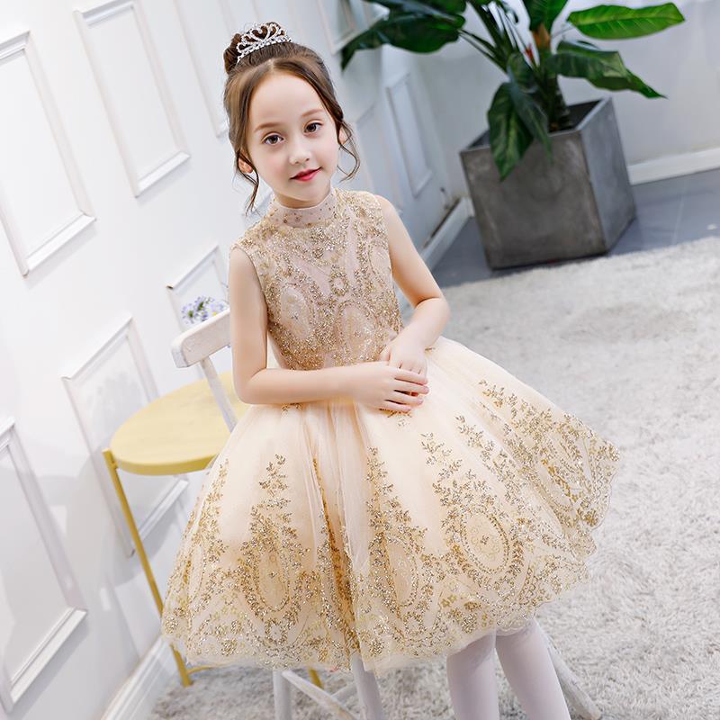 长款仙女生日礼服女款衣服花童公主裙女童中小童秋装学生少女小孩