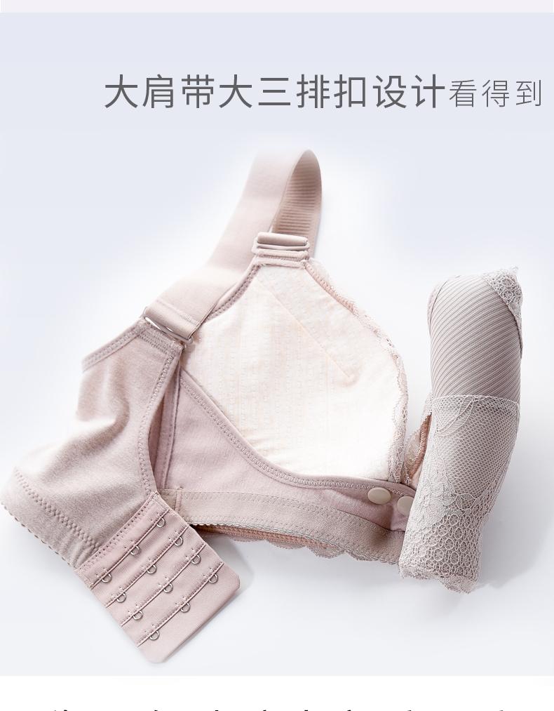 母乳哺乳内衣聚拢防下垂产后上託哺乳胸罩怀孕期纯棉舒适孕妇胸罩详细照片