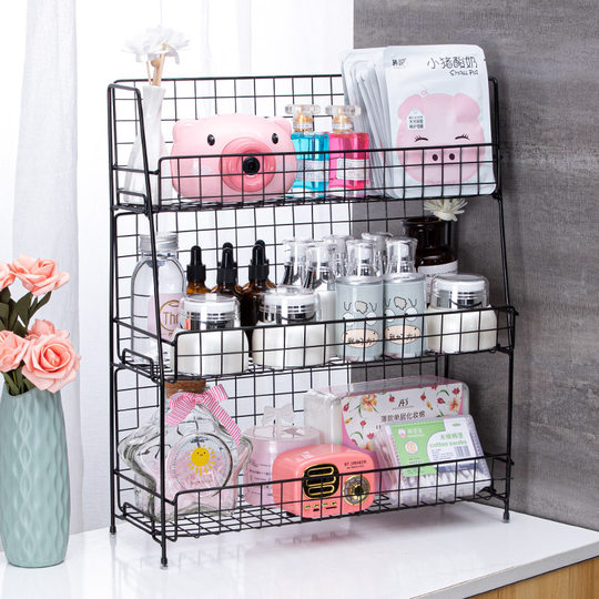 Cosmetic storage box finishing rack dormitory office desktop storage mask skin care products rack multi-layer artifact