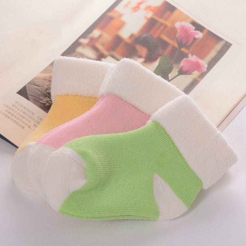 【五双装】0-3岁宝宝棉袜男女童毛圈袜春秋冬保暖袜子加厚婴儿袜
