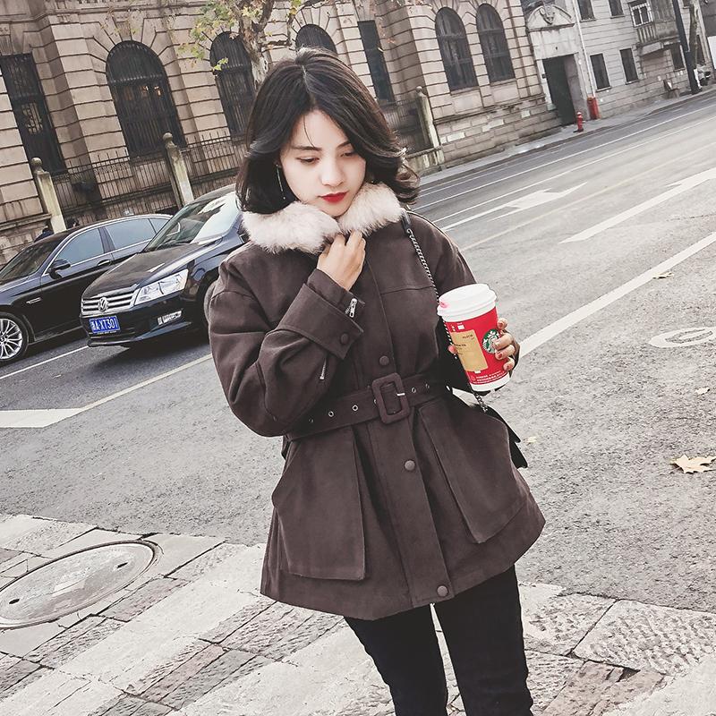 2018棉服新款韩版收腰chic冬装棉衣女装加厚棉袄冬季短款工装外套