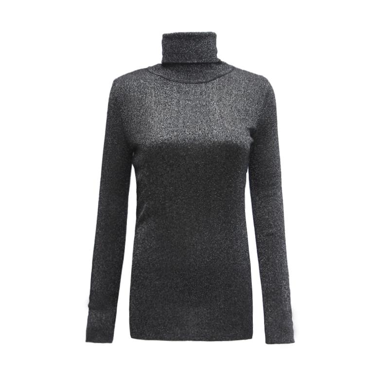 Трикотаж Корейская версия шелковые свитера с высоким горлом водолазку длинные свитер девочек осень зима Колготки меняться пиджак рубашка