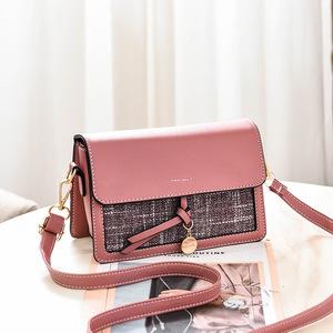 女包2019新款包包女PU皮韩版时尚女包斜挎潮流单肩手提包一件代发
