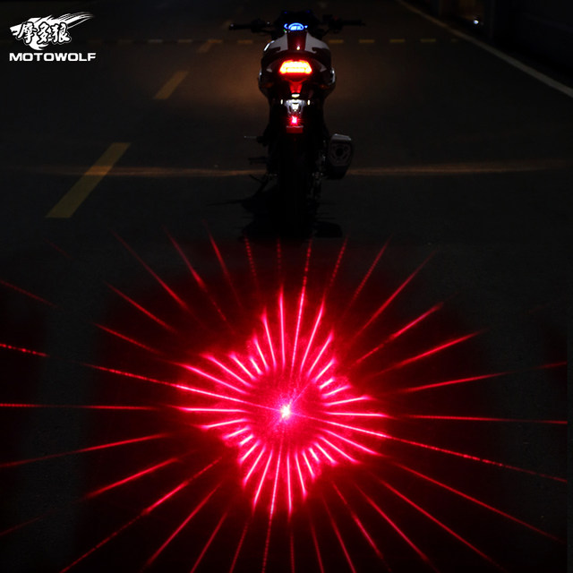 Car and motorcycle modification accessories LED decorative lights lanterns laser spotlights rear-end warning fog lights rear lights