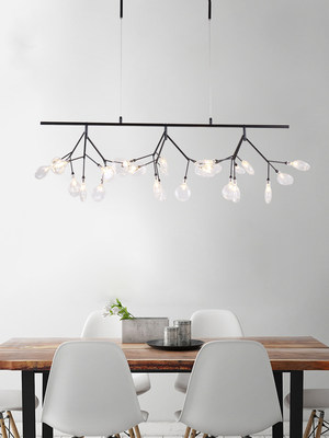 Postmodern minimalist dining room chandelier branch firefly lamp Nordic style art personality bedroom living room lamp