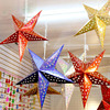 Christmas and New Year Spring Festival Decorations Chinese New Year Shopping Center Hotel Scenery Pentagram Ceiling Decoration Pendant