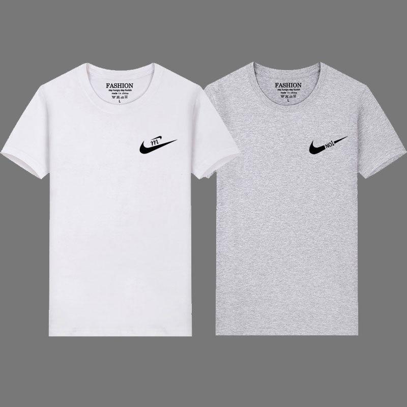 夏季男薄款圆领短袖T恤两件装