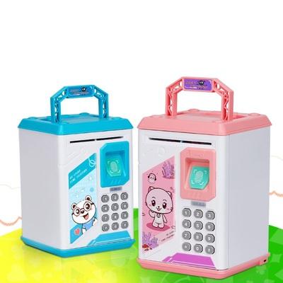 防摔少女存钱罐儿童密码指纹成人只进不出小女孩网红储钱保险箱盒