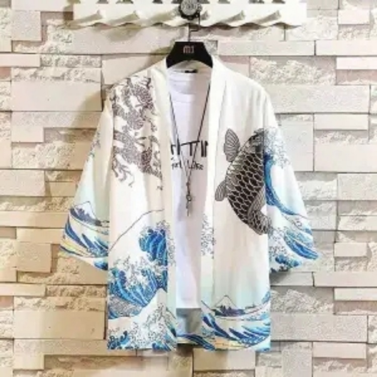 中国风男装套装夏季防晒日式开衫道袍短袖九分裤一套很仙的上衣服