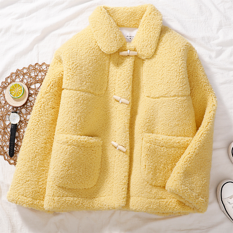 学生毛短款女羊羔一体皮毛2019新款秋冬季小个子加厚上衣外套韩版