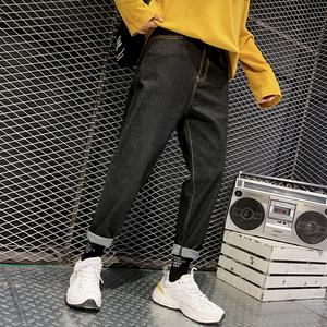秋冬季男生牛仔褲男潮牌寬松直筒學生青年男裝褲子韓版長褲子