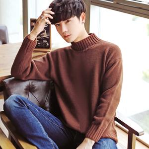 男士毛衣加厚冬季新款潮流高领毛衣男韩版套头针织衫青年线衣M901