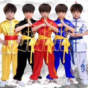 Children martial arts performance clothing training clothes embroidery dragon children competition martial arts performance clothing martial arts training clothes