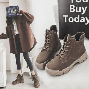 小红人ins马丁靴女2018新款秋季短靴女英伦风百搭韩版短筒裸靴子
